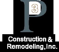 P3 Construction & Remodeling Logo